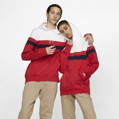 Nike SB Icon Gestreifter Skateboard-Hoodie für Herren