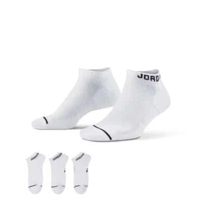 Купить Носки Jordan Jumpman No Show (3 пары), Белый/Белый/Белый/Черный, 17483428, 11231322