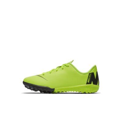 Calzado de fútbol para terreno artificial para niños talla pequeña Nike Jr. MercurialX Vapor 12 Academy TF