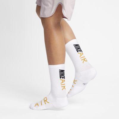 Chaussettes mi-mollet avec Swoosh Nike Cushioned pour Enfant (2 paires)
