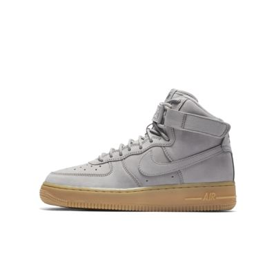 Nike Air Force 1 High WB Girls Training Shoes Brown/Black pM1782C