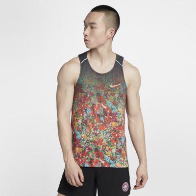 Męska koszulka bez rękawów do biegania z nadrukiem Nike Rise 365