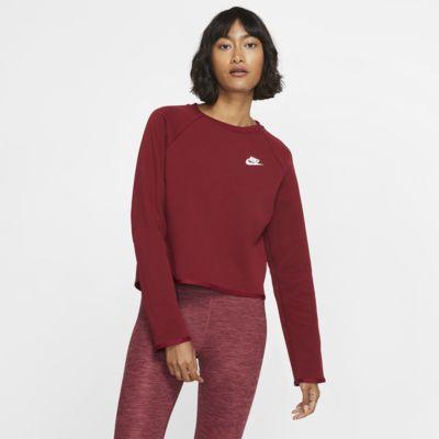 Nike Sportswear Tech Fleece-trøje med rund hals til kvinder