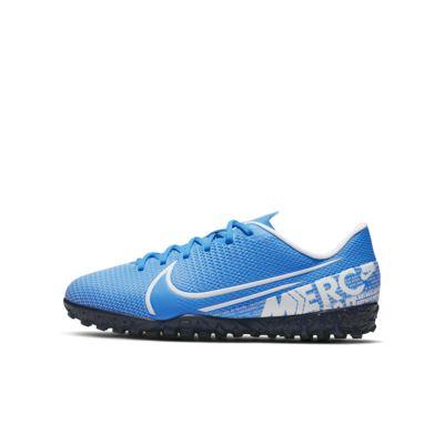 Calzado de fútbol para césped deportivo artificial (turf) para niños talla pequeña/grande Nike Jr. Mercurial Vapor 13 Academy TF