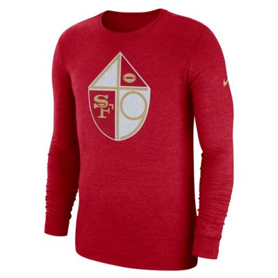 Nike (NFL 49ers) Men's Tri-Blend Long-Sleeve T-Shirt