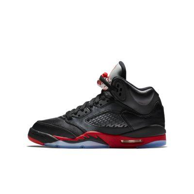 Купить Кроссовки для школьников Air Jordan 5 Retro, Черный/Красный, 22117615, 12390361