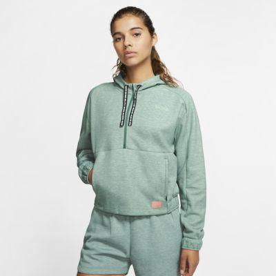 Fotbollshuvtröja med halv dragkedja Nike F.C. Dri-FIT för kvinnor