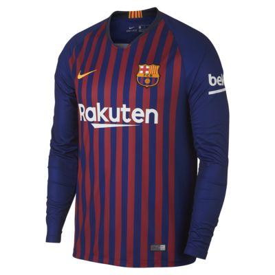 Мужское футбольное джерси с длинным рукавом 2018/19 FC Barcelona Stadium Home