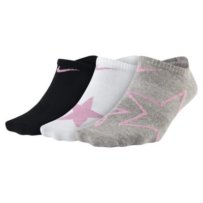 Nike Everyday Graphic No-Show sokker til store barn (3 par)