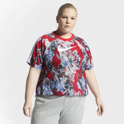 Nike Sportswear Women's Short-Sleeve Floral Top (Plus Size)
