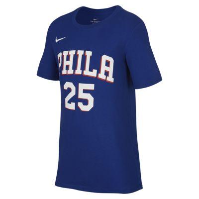 费城 76 人队 Nike Dri-FITNBA 大童(男孩)T恤