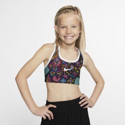 Vendbar Nike Pro Classic sports-bh med print til piger