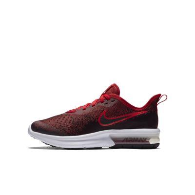 Купить Кроссовки для школьников Nike Air Max Sequent 4, Черный/Красный/Черный, 22032494, 12344866