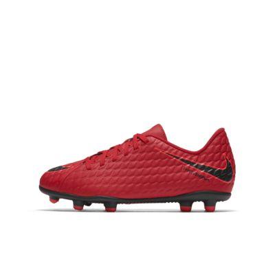 Dobbfotbollssko fast underlag Nike Jr. Hypervenom Phade 3 för barn/ungdom