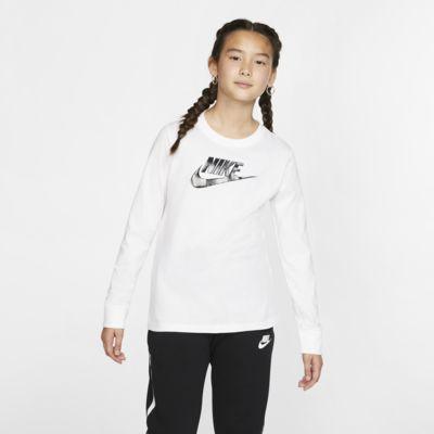 Langærmet Nike Sportswear-T-shirt til store børn