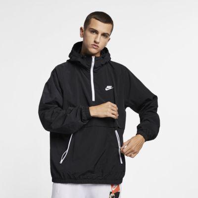 Nike Sportswear-vævet anorak med hætte