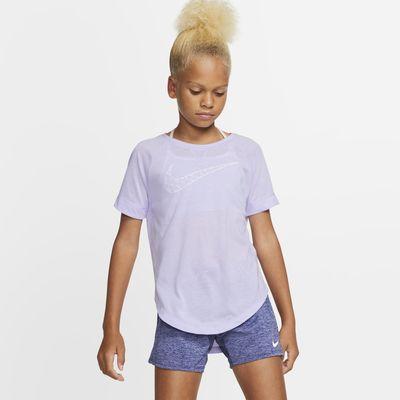 Nike Dri-FIT Trophy Older Kids' (Girls') Short-Sleeve Graphic Training Top