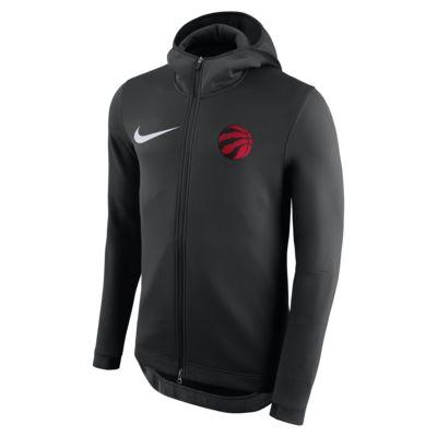 Toronto Raptors Nike Therma Flex Showtime NBA-s kapucnis férfipulóver