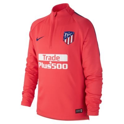Atletico de Madrid Dri-FIT Squad Drill-langærmet fodboldtrøje til store børn