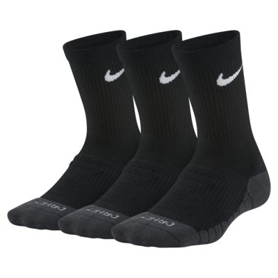 Nike Dri-FIT Cushioned Younger Kids' Crew Socks (3 Pairs)