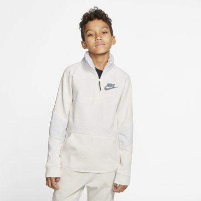 Nike Sportswear Tech Fleece Older Kids' Long-Sleeve Top