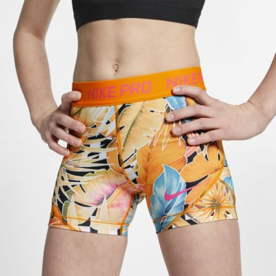 Короткие шорты с принтом для девочек школьного возраста Nike Pro