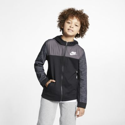 Nike Sportswear Advance 15 Older Kids' (Boys') Full-Zip Hoodie