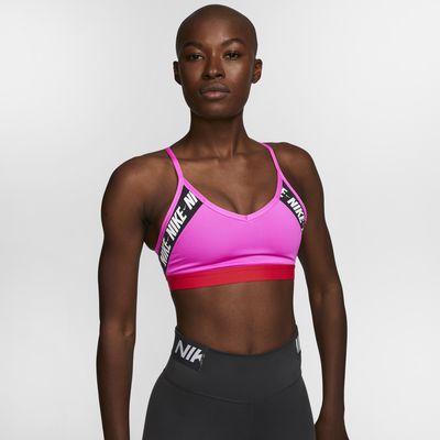 Nike Indy-sports-bh med logo og let støtte til kvinder