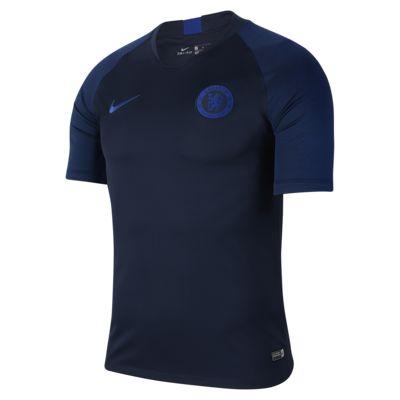 Nike Breathe Chelsea FC Strike Kurzarm-Fußballoberteil für Herren