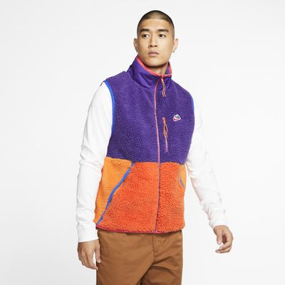 Veste sans manches en tissu Fleece sherpa Nike Sportswear pour Homme