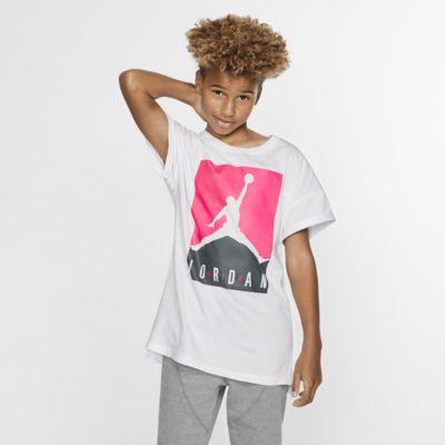 Kortærmet Jordan Jumpman-T-shirt til store børn (piger)