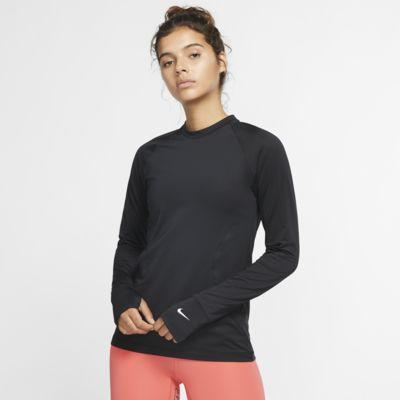 Nike Pro Warm-langærmet crewtrøje til kvinder