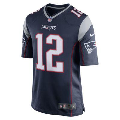 Мужское джерси для американского футбола для игры на своем поле NFL New England Patriots (Tom Brady)