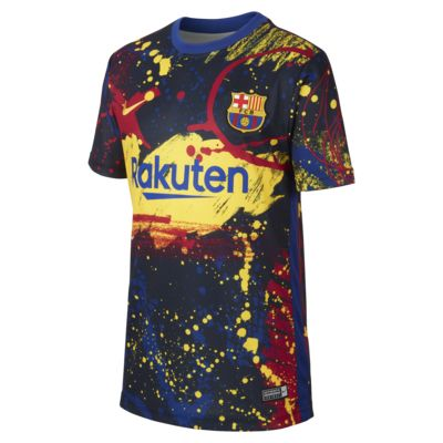 FC Barcelona Older Kids' Short-Sleeve Football Top