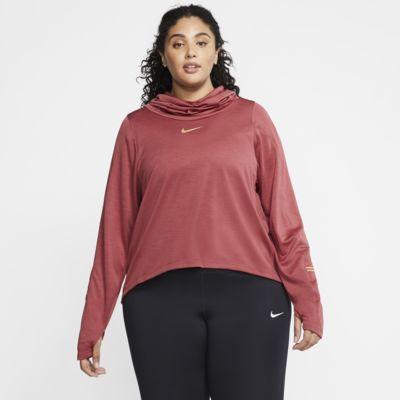 Damska koszulka z długim rękawem do biegania (duże rozmiary) Nike Icon Clash