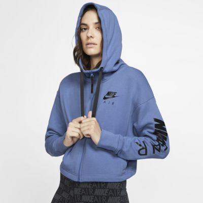 Sweat à capuche en tissu Fleece entièrement zippé Nike Air pour Femme