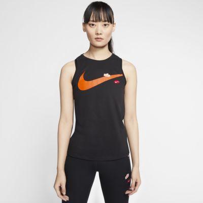 Damska koszulka treningowa bez rękawów z nadrukiem Nike Dri-FIT