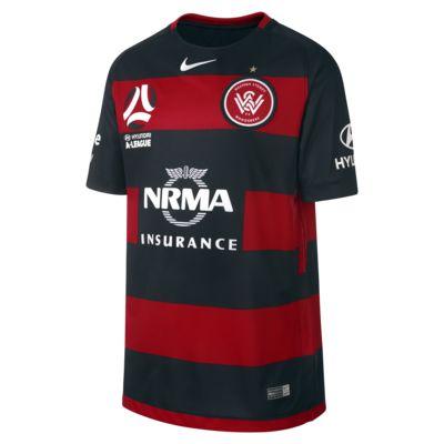 Camiseta de fútbol para niños talla grande Western Sydney FC de local para aficionados, temporada 2017/18