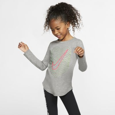 Nike-T-shirt med lange ærmer til små børn