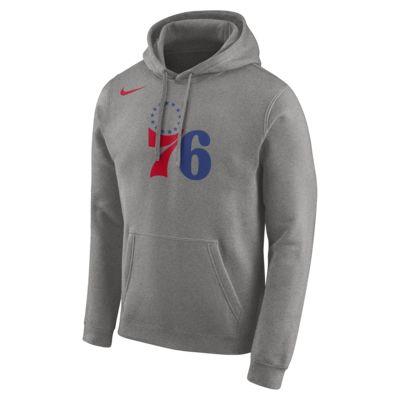 Felpa Philadelphia 76ers Nike con cappuccio e logo NBA - Uomo