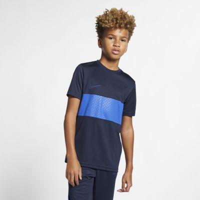 Nike Dri-FIT Academy-kortærmet fodboldtrøje til store børn