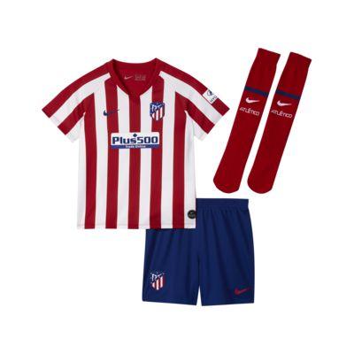 Atlético de Madrid 2019/20 Home Fußballtrikot-Set für jüngere Kinder