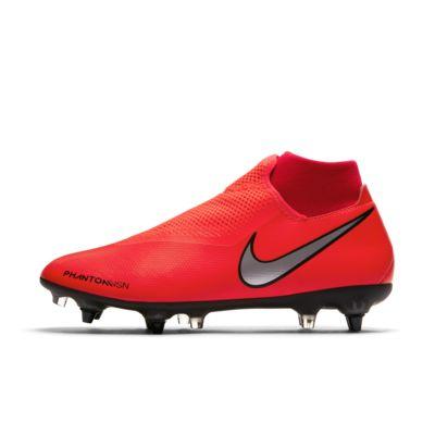 Купить Футбольные бутсы для игры на мягком грунте Nike PhantomVSN Academy Dynamic Fit SG-Pro Anti-Clog Traction, Яркий темно-красный/Красный/Черный/Серебристый металлик, 23020830, 12578904