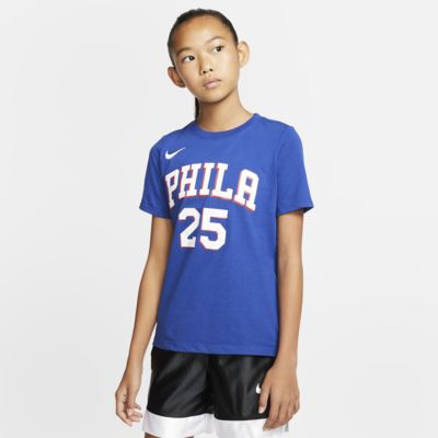 Ben Simmons 76ers Icon Edition Big Kids' Nike NBA T-Shirt