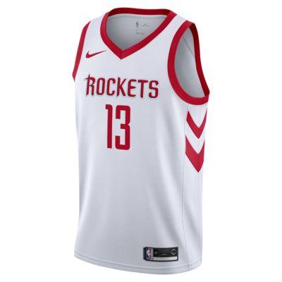 Camiseta conectada para hombre Nike NBA James Harden Association Edition Swingman (Houston Rockets)