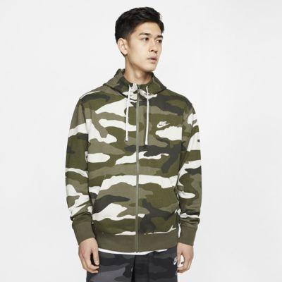 Hoodie em tecido moletão com fecho completo Nike Sportswear Club para homem