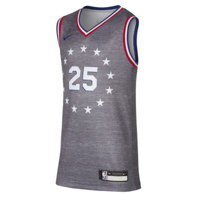 费城 76 人队 City Edition SwingmanNike NBA Jersey大童(男孩)球衣