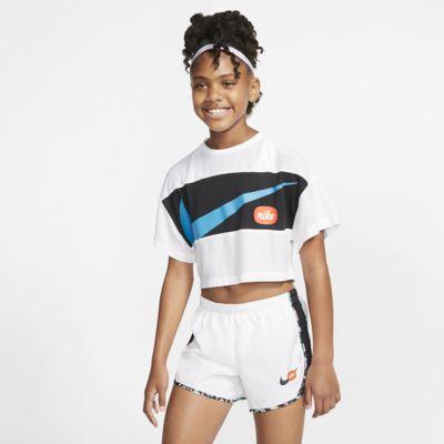 Nike kortermet treningsoverdel til store barn (jente)