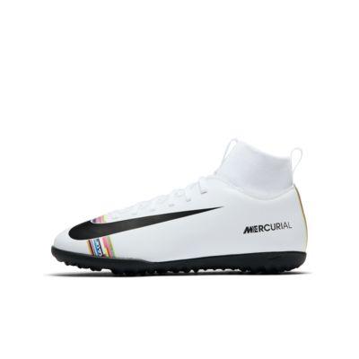 Nike Jr. SuperflyX 6 Club TF Fußballschuh für Tuff für jüngere/ältere Kinder