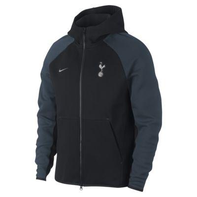 Pánská mikina Tottenham Hotspur Tech Fleece s kapucí a dlouhým zipem